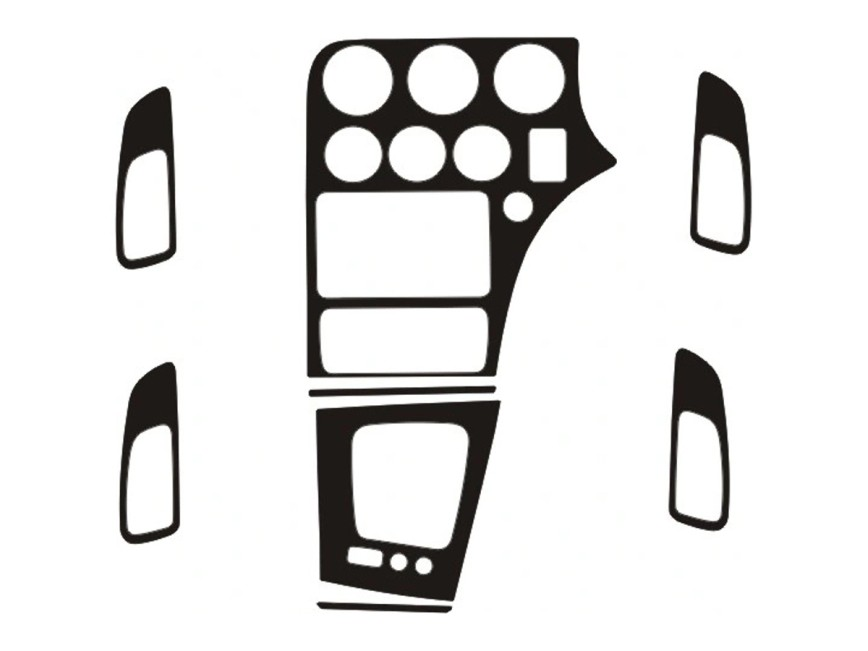dash trim kit rhd audi a4 b5 94 99 with digital a c rh imolatuning com Audi A4 B5 Wagon Audi A4 B4